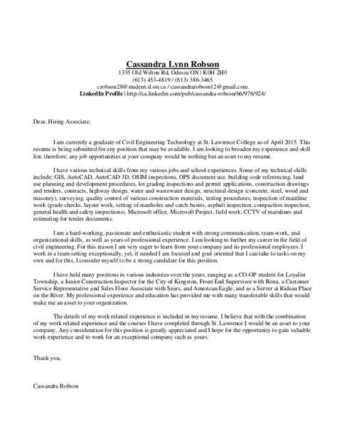 Cover Letter For Civil Engineer Resume