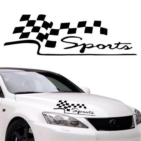 Racing Aufkleber Schwarz by Racing Rennfahne Sports Aufkleber Auto Decal Vinyl Sticker