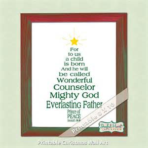 christian christmas bible verse art isaiah scripture christmas