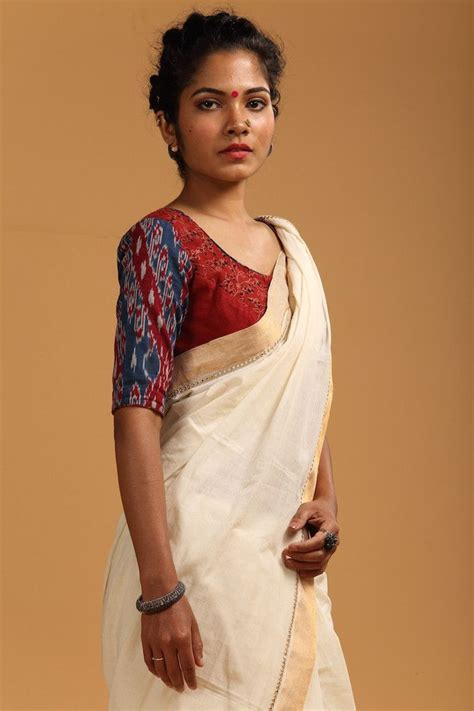 prithvi an online hub of ethnic and exclusive home d 233 cor ikat khadi patchwork blouse seamstress s a r e e s