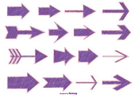 sketchy marker  style arrows   vectors