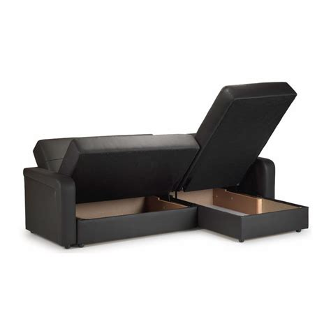 sofa storage contender leather storage sofa bed