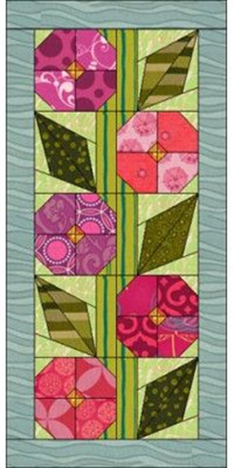 Free Flower Quilt Patterns by Pretty Posies Runners Quilt Designs And Flower