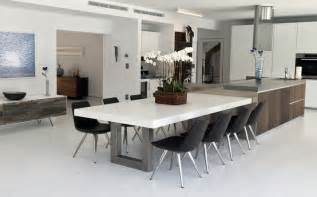 dining table in kitchen custom concrete kitchen dining tables trueform