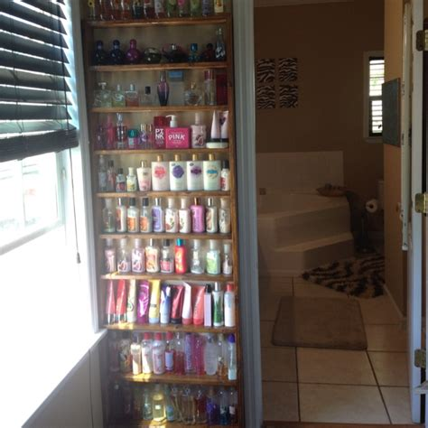 Shelf Of Lotion by Lotion Perfume Holder Idea I Came Up With Made Sam
