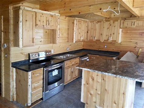 cedar log kitchen cabinets log home kitchen cabinetry