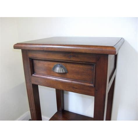 mahogany table with small drawer