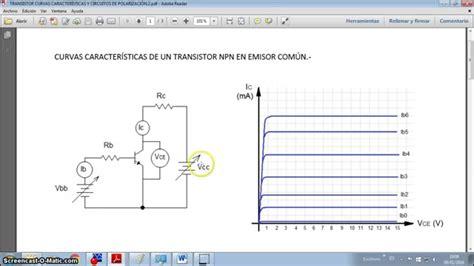 transistor bjt como lificador emisor comun transistor en emisor 218 n curvas caracter 205 sticas y polarizaci 211 n
