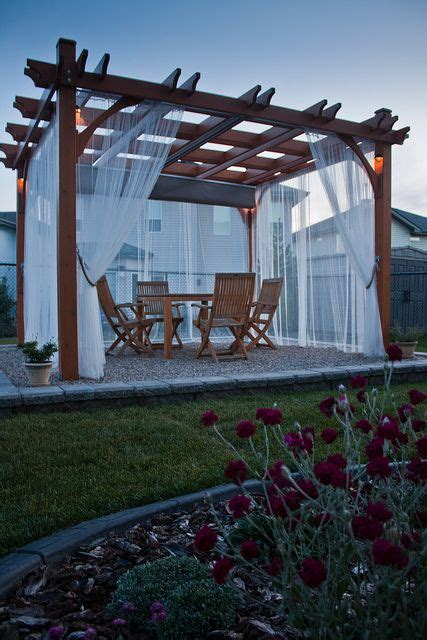 Pergola Mosquito Curtains Best 25 Pergola Curtains Ideas On Pinterest Outdoor Curtains Deck Curtains And Patio Curtains