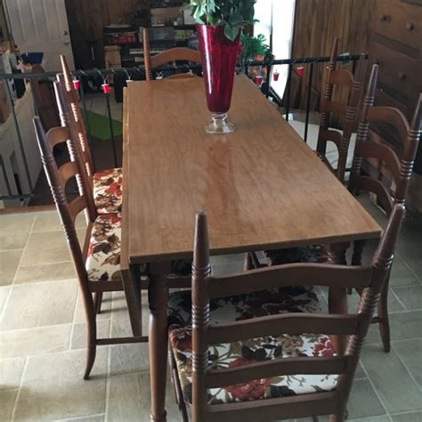 60s Kitchen Table 60 S Vintage Retro Drop Leaf Dining Kitchen Table With 6 Chairs For Sale In Lawrenceville Ga