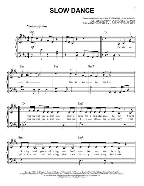 slow dancing music 2014 slow dance sheet music by john legend easy piano 158952