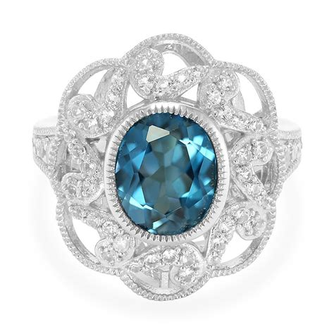 blue topaz silver ring 3866yw rocks co