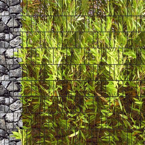 sichtschutz fenster gross bambus bruchstein gro 223 bedruckter zaun sichtschutz ebay