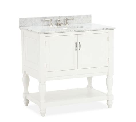pottery barn sink console newport single sink console pottery barn