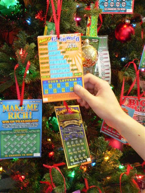 hanging lottery ticket on tree books for troops