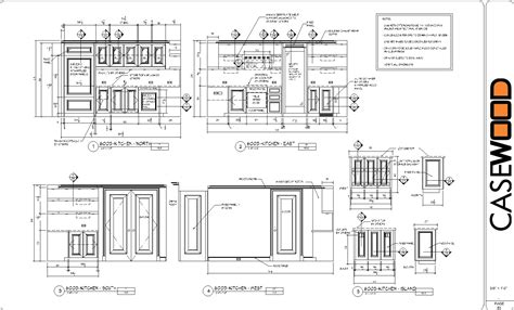 How To Make Custom Kitchen Cabinets by Sample Cad Drawings Casewood Cabinet Shop Drawings