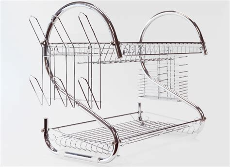 Two Tiered Dish Rack by Two Tier Chrome Dish Rack
