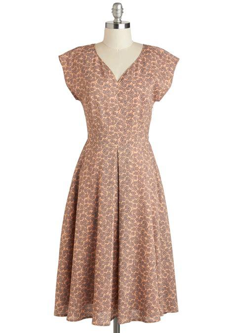 Country Dress mauve to the country dress mod retro vintage dresses
