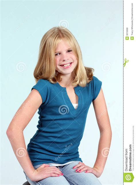 pre teenagers models golden girl royalty free stock photos image 3015668