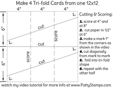 Best 20 Tri Fold Cards Ideas On Pinterest Tri Fold Card Template