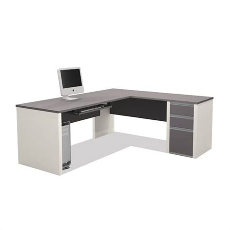 bestar l shaped desk bestar connexion l shaped desk in sandstone 93880 59