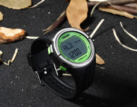 Plus Box Skmei Heartrate Pedometer 1058 Original Water Resistan 50m 1 skmei 1058 rate sports led with pedometer function water resistance in summer store
