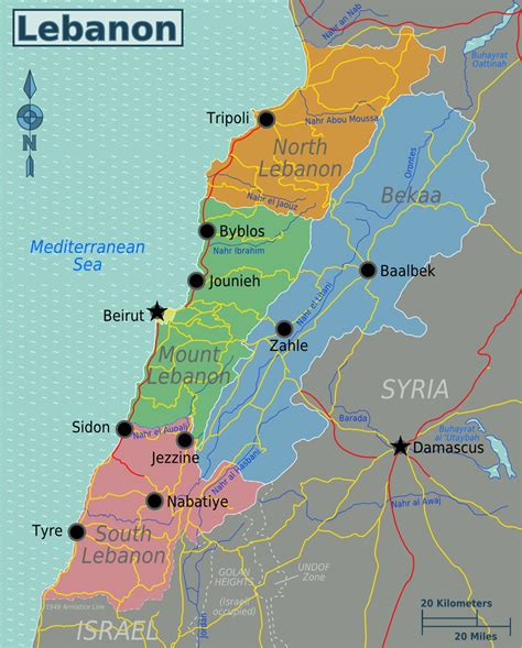 map of lebanon maps of lebanon detailed map of lebanon in tourist map of lebanon road map of