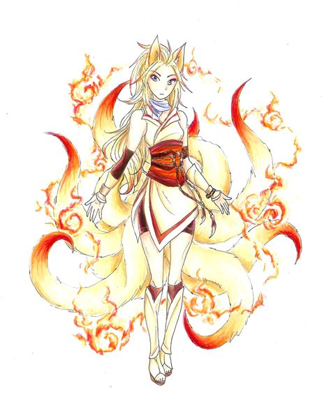 ninetales gijinka design eimu by rockbat on deviantart