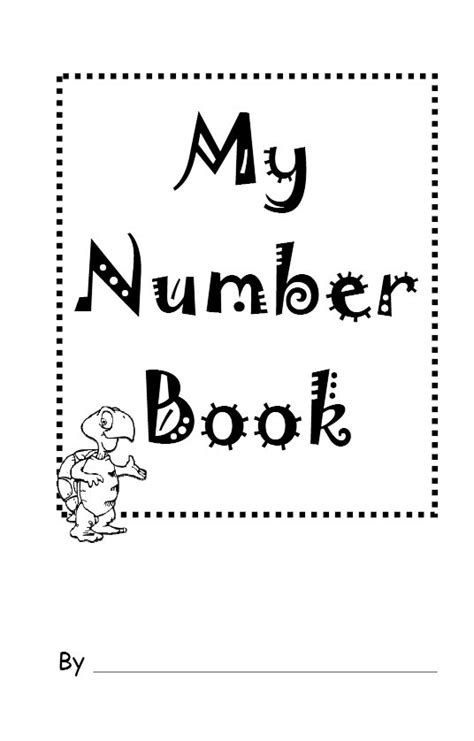 numbers 1 10 printable book my number book teaches number recognition for preschoolers