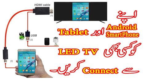 connect android phone to tv connect your android smartphone tablet to any led tv urdu