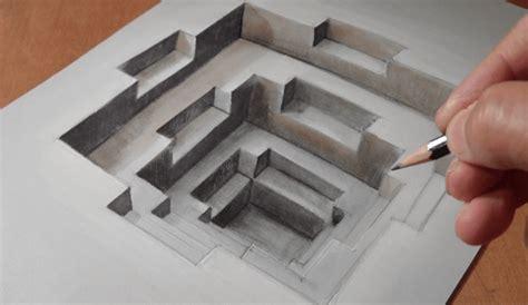 cara membuat gambar 3d di kertas menggunakan pensil prinsip gambar tiga dimensi yang harus diketahui para