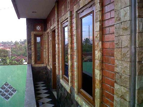 motif keramik dinding teras depan rumah  modern