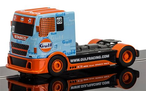 gulf racing truck c3772 scalextric team truck gulf no 68