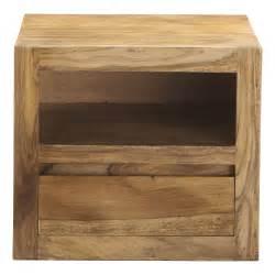 table chevet bois table de chevet avec tiroir en bois de sheesham massif l