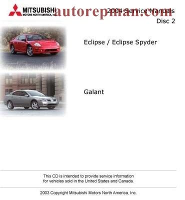 free car manuals to download 2004 mitsubishi eclipse security system mitsubishi eclipse galant 2004 manual