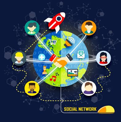 home design social network social network design elements vector 03 over millions