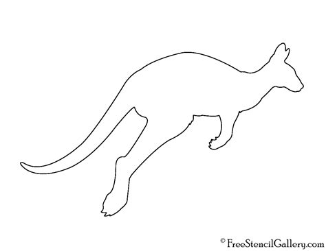 Aboriginal Australian Animal Outlines by Aboriginal Kangaroo Template Www Imgkid The Image Kid Has It