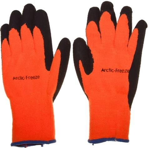 fleece lined rubber work gloves arctic freeze fleece lined rubber coated glove