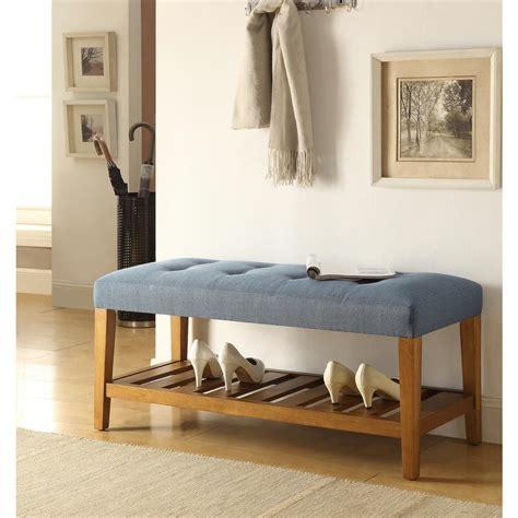 blue storage bench home decorators collection laughlin antique blue storage bench 7721700310 the home depot