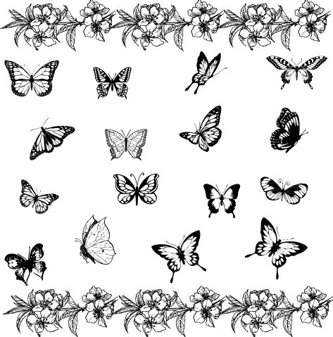butterfly tattoos small simple beautiful butterfly flower on butterfly tattoos