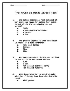the house on mango street test
