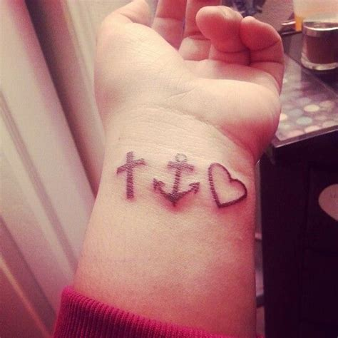 my faith hope amp love tattoo i adore it so much and live