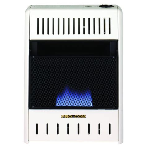 procom radiant vent free heater mnsd100tba 10 000 btu procom blue flame vent free dual