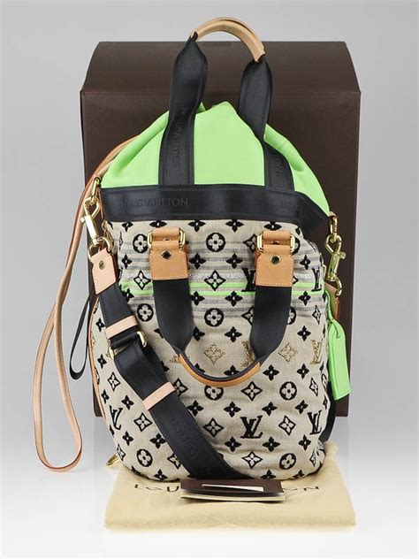 louis vuitton limited edition green monogram cheche gypsy