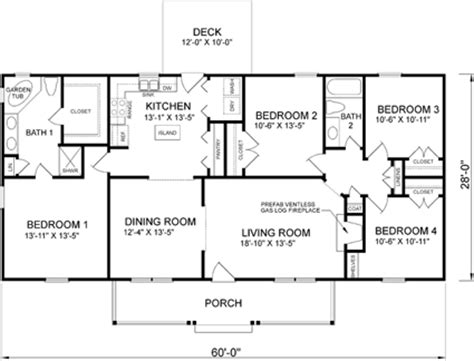 4 bedroom rectangular house plans house plans home plans and floor plans from ultimate plans
