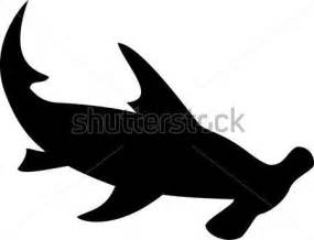 hammerhead shark silhouette pin by the grid designs on silhouettes