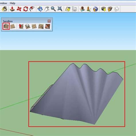 google sketchup sandbox tutorial how to use the sandbox tool in google sketchup howtech