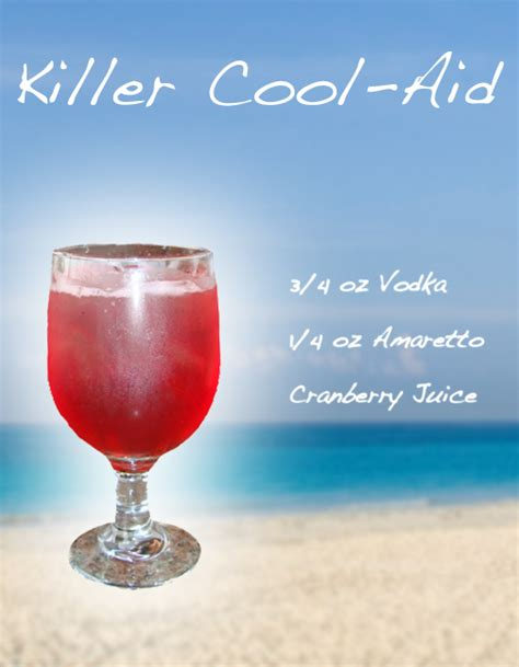 alcoholic drink recipes killer cool aid mixed drink recipe liquoricious