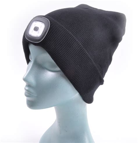beanie hat with led light led beanie beanie hat with built in led torch ebay