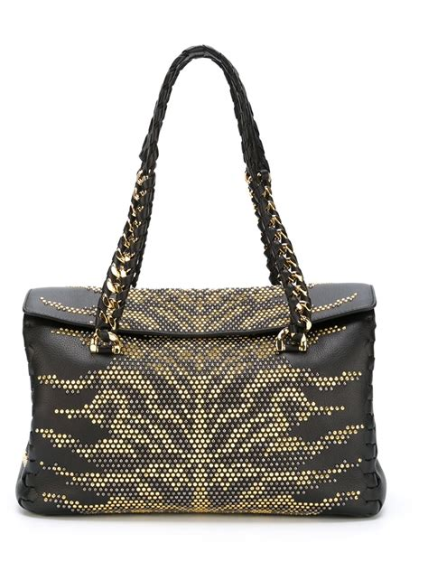 Roberto Cavalli Tote by Roberto Cavalli Studded Tote Bag In Black Lyst